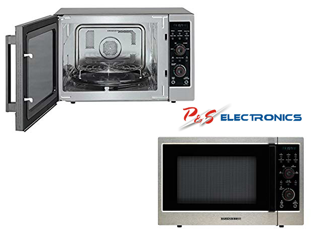 daewoo triple heating convection microwave oven 1000 watt 42 litre stainless steel koc 154kwr