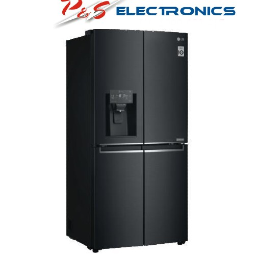 LG 570L Slim French Door Fridge with Non Plumbed Ice and Water Dispenser - Matte Black