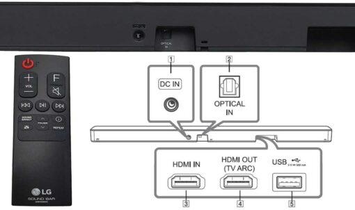 LG 2.1Ch 400W wireless Soundbar with Subwoofer-SL5Y
