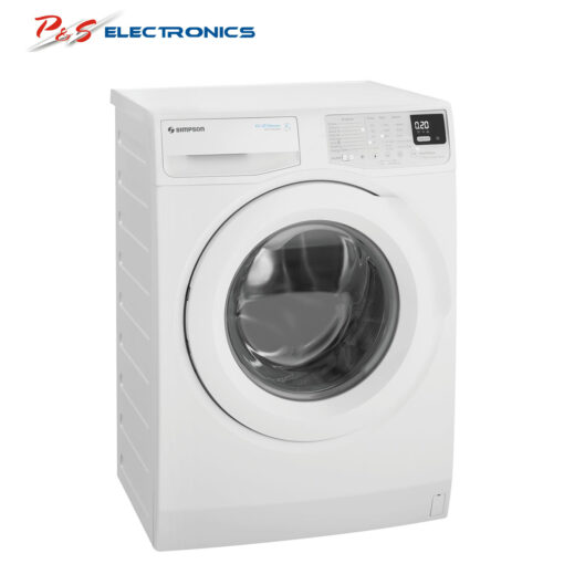 Simpson SWF7025EQWA 7kg Front Load Washing Machine Side high