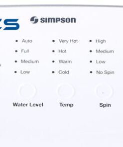 Simpson SWT1043 10kg Top Load Washing Machine Controls high