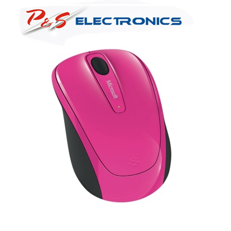 Microsoft Wireless 3500 Magenta Pink Mobile Mouse