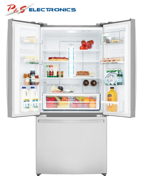 Westinghouse WHE5200SA D 520L French Door Fridge open doors high