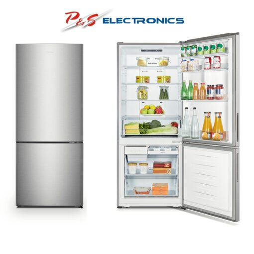 Hisense 453L Silver Bottom Mount Refrigerator _ HR6BMFF453S