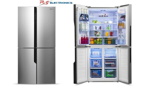 Hisense HR6CDFF512S 512L Stainless French Door Fridge - Factory Seconds 2nd
