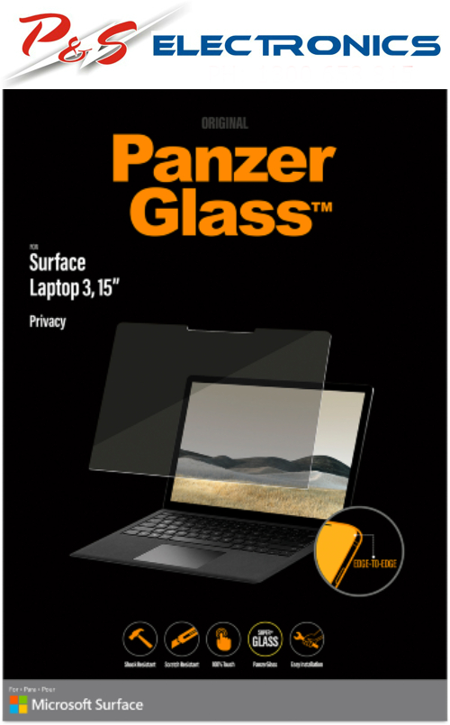 """PanzerGlass 15"""" Privacy Screen for Surface Laptop 3 QF6-00565"""