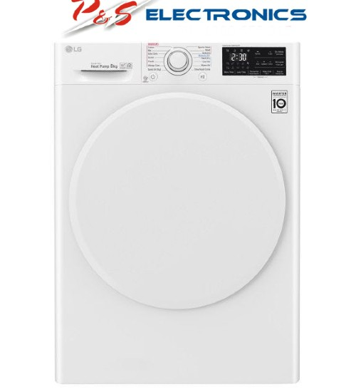 LG 8kg Heat Pump Dryer w/Inverter Control_DVH4-08W.CTN. Carton Damaged