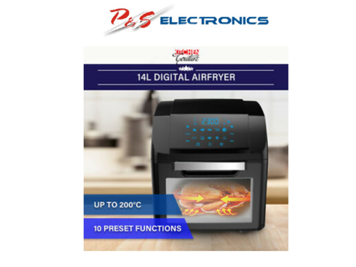 Kitchen Couture 14L Digital Air Fryer - Black _301545