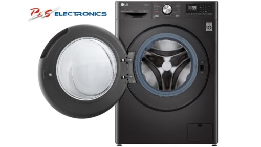 LG Series 9 10kg Front Load Washing Machine with Turbo Clean 360 - Black Steel