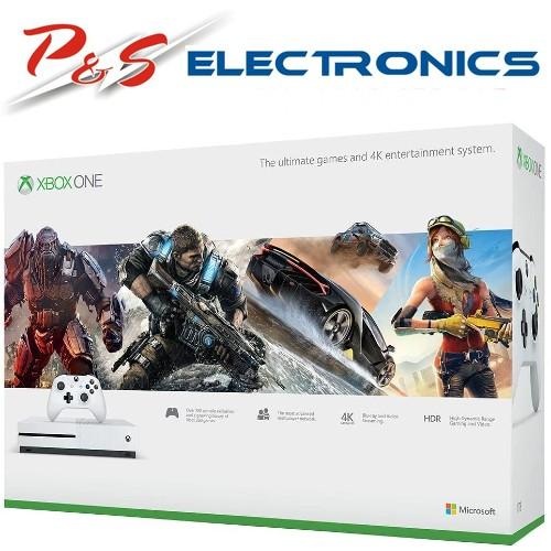 Genuine Microsoft S Xbox One S 1TB Console+Xbox Wireless Controller Bundle_234-00023-B