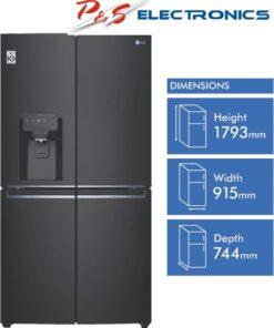LG 706L French Door Fridge with Slim In-Door Icemaker - Matte Black_GF-L706MBL