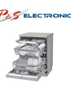 LG 15 Place Setting QuadWash Freestanding Dishwasher - Platinum Steel_XD4B15PS