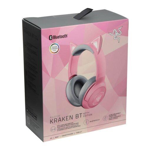 Brand NEW Razer Kraken Bluetooth BT Kitty Edition Headset Quartz/Pink headphone